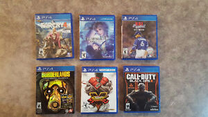 Assorted PS4 games - see description for prices