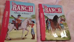 2 livre enfants Le ranch cheval chevaux