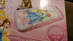 Disney princess ready bed with sleeping bag