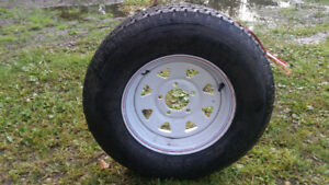 New Trailer Tire and Rim