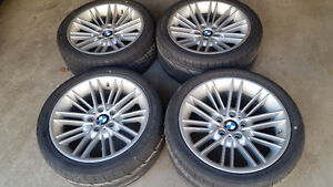 """BMW Style 85 wheels 18"""" staggered, mint 5x120"""