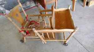 Beautiful antique child seat converts to potty/cart Kitchener / Waterloo Kitchener Area image 5