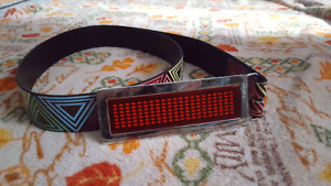 LED buckle with belt