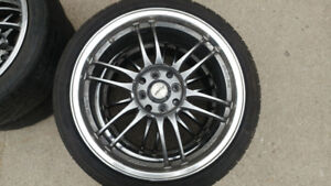 17x7  KRS Racing Twin Sport Rims with z-rated tires included