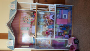 Barbie home, dolls, car and house accessories