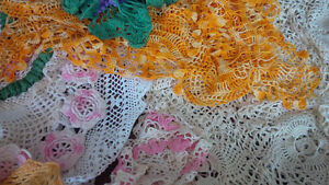 Vintage Colourful Doilies + One Tablecloth Kitchener / Waterloo Kitchener Area image 6