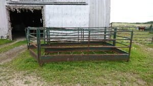 2-Large Square Bale Feeders