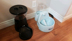 Pet food dispenser and water fountain