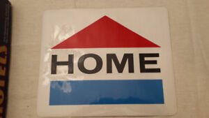 Home Oil Company Distributors Ltd Gas pump decal original
