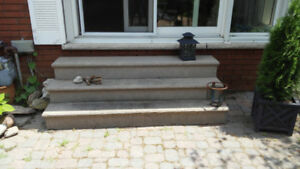 Free set of cement steps