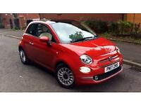 2017 Fiat 500 1.2 Lounge Dualogic with Low M Automatic Petrol Hatchback
