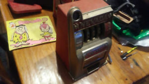 Vintage coin slot machine bank