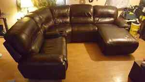 Bliss 5 piece leather sectional