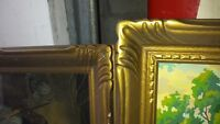 Antique hand carved wood picture frames