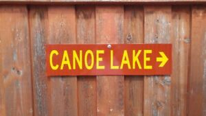 Provincial Park Sign Canoe Lake (Real)