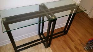 TABLE D'ENTRÉE/CONSOLE/HALL/ENTRANCE TABLE GLASS TOP