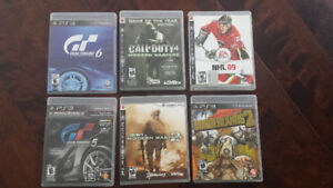 Call of duty, Borderland 2, NHL (PS3)...4 pour 15$!