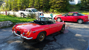 1970 MGB Roadster. May trade for antique truck.