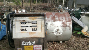 gas pump and tank