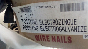 "50 lb box of 1-1/4 "" roofing nails"