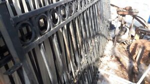Iron fence section