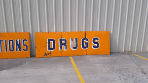 10 ft by 4 2 inch porcelain sign.
