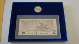 1996 Canada Proof Coin And Bank Note Set with certificate