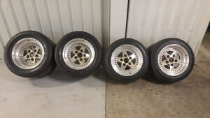 """Porsche 15""""  BBS wheels including tires"""