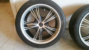 """18 """" Rims and tires"""