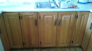 Kitchen cabinets, wall oven, stovetop & dishwasher