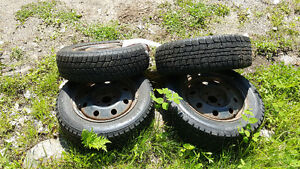 2 sets of 2 snow tires...came off honda civic 4sale