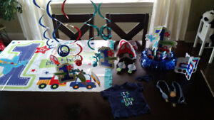 First birthday shirt and decorations