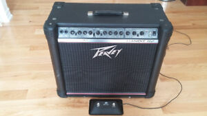 Amplifier. Peavey Bandit 112 Transtube Series with pedal