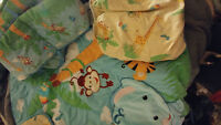 Rainforest crib bedding