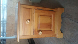 solid pine night stand for sale