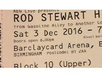 2 Rod Stewart tickets 3rd Dec 2016 Barclaycard arena
