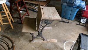 Antique school house chair/desk