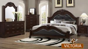 QUEEN 6 PC BEDROOM SET 1299$.CHOOSE ANY STYLE