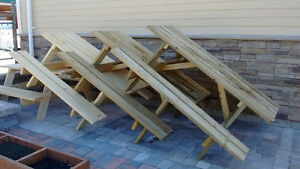 SPRUCE OR PRESSURE TREATED PICNIC TABLES!  SPRING SPECIAL!