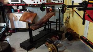 Bench+barres+poids( faite une offre!)