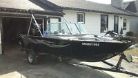 2013 Lowe fish and ski 165 with trailer