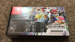 Brand new smash bros edition switch and joy cons