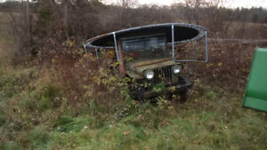 1940-50 Willies Jeep for sale, needs work but its all there.