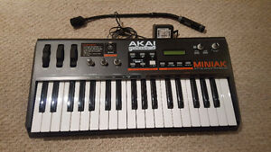 Akai Miniak analog synth all accessories and box. Like new! $265