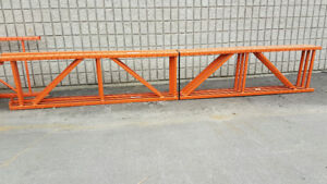 "USED REDI-RACK END FRAMES 28"" X 16'.GOOD FOR TIRES OR FILE BOXES"