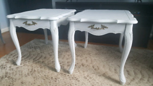 French Provincial end /side tables.