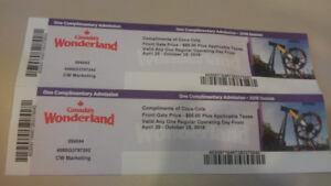 Canada's Wonderland Tickets
