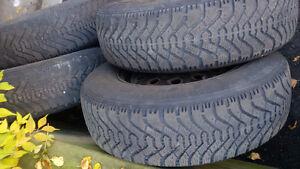 205/75/15   4 winter tires on steel rims Cambridge Kitchener Area image 4