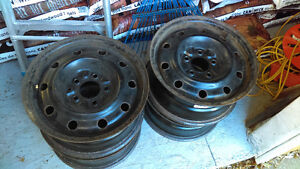 "4-STEEL RIMS FOR SALE 114.3 X 5---- 6.5"" X 15"""