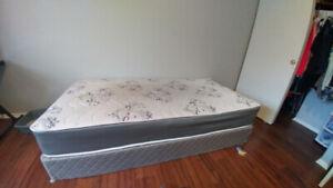 Single size boxspring and mattress